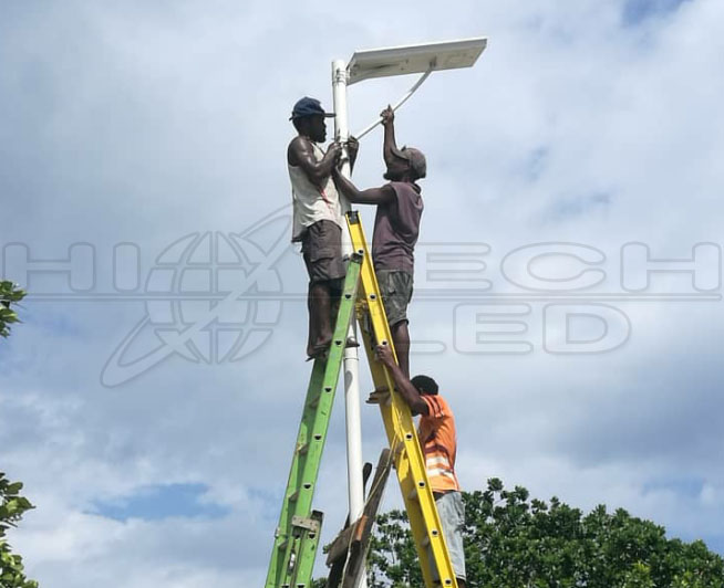 all in one solar street light with drawer